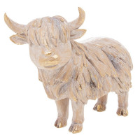 Driftwood Highland Cow Resin LP46457