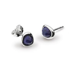 Silver Coast Pebble Lapis Lazuli Mini Stud Earrings 3184LP