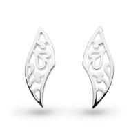Silver Blossom Flourish Small Stud Earrings 40012HP