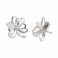 Silver Kit Heath Blossom Full Bloom Stud Earrings 40266RP