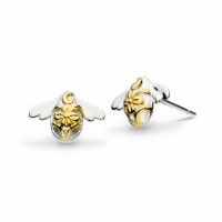 Silver & 18ct Gold Plate Blossom Bumblebee Gold Plated Stud Earrings 40339GD