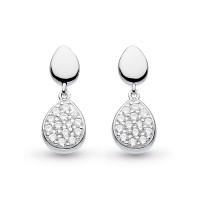 Silver Coast Pebble Glisten Drop Earrings 60188CZ