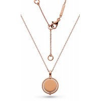 Silver & Rose Gold Plated  Empire Revival Round Spinner Rose Gold Necklace 90385RG