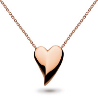 Silver & Rose Gold Plated Desire Lust Heart Rose Gold Plate Necklace 90FTRG