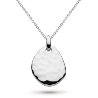 Silver Coast Pebble Hammered Necklace 9183HD