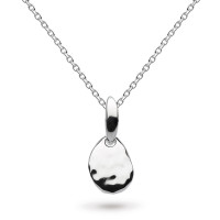 Silver Coast Pebble Small Hammered Necklace 9194HD