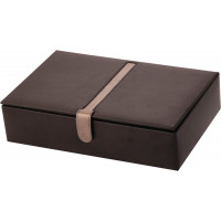 Mele & Co Black Leather Watch Box