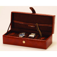 Mele & Co  Brown Leatherette Watch Box