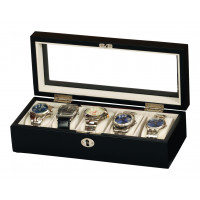 Mele & Co Black Lockable Watch Box