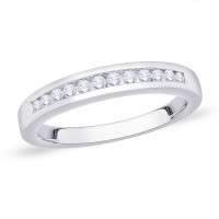 9ct White Gold (0.25pts) Channel Set 12 Stone Eternity Diamond Ring NW1225