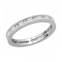 18ct White Gold Channel Set Brilliant & Baguette Cut Full Eternity Diamond Ring RB8916
