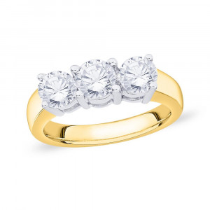 18ct Gold Trilogy Claw Set (1.00ct) Diamond Ring WB0310A