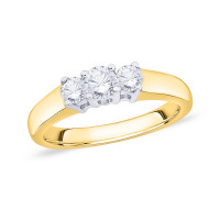18ct Gold Trilogy Claw Set (0.50pts) Diamond Ring WB0350