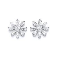 Purity 925 Silver CZ Stud Earrings PUR1724ES