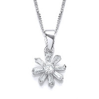 Purity 925 Silver CZ Pendant & Chain PUR1724P
