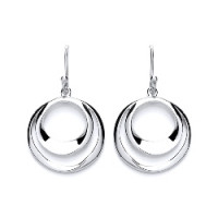 Purity 925 Silver Circle Drop Earrings PUR1754ED