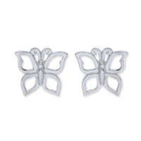 Purity 925 Silver Butterfly Earrings PUR3681ES