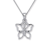 Purity 925 Silver Butterfly Pendant & Chain PUR3681P