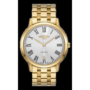 Roamer Gents Superslender Gold Plated Watch 515810-48-22-50