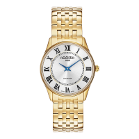 Roamer Ladies Gold Plated White Dial Sonata Bracelet Watch 520820-48-15-50