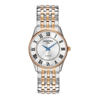 Roamer Ladies Two Tone Rose & Steel White Dial Sonata Bracelet Watch 520820-49-15-50
