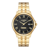 Roamer Gents Gold Plated Black Dial Windsor Watch 706856-48-52-70
