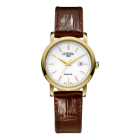 Roamer Ladies Gold Plated Brown Leather Strap Classic Line Watch 709844-48-25-07