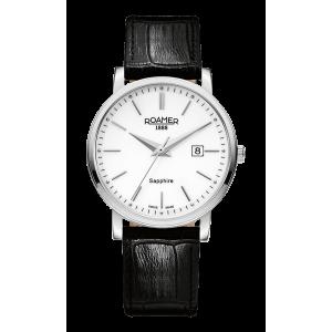 Roamer Gents Classic Line Black Leather Strap Watch 709856-41-25-07