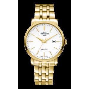 Roamer Gents Gold Plated Classic Line Bracelet Watch 709856-48-25-70