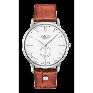 Roamer Gents Vanguard Slimline Tan Strap Watch 980812-41-25-09