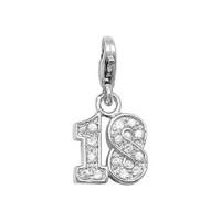 Silver 18 Pendant