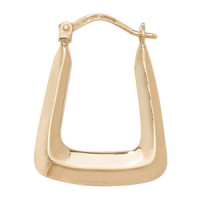 9ct Gold Plain Hoops