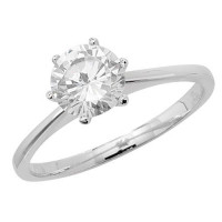 Silver Solitaire CZ Ring TL-G7192