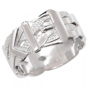 Silver Gents Buckle Ring G7267