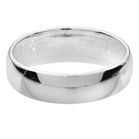 Silver Traditional Court Wedding Ring 5mm G7715