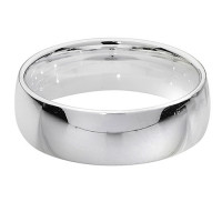 Silver Traditional Court 6mm Wedding Ring G7716