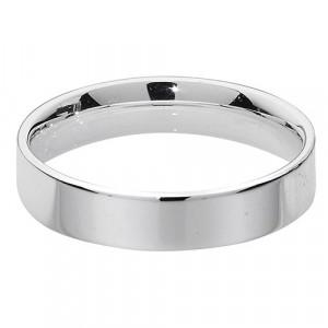 Silver Flat Court Wedding Ring G7725