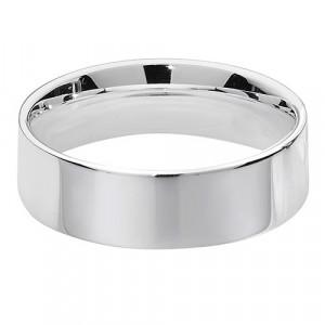 Silver 6mm Flat Court Wedding Ring G7726