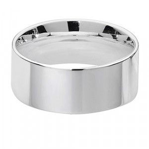 Silver Wide Flat Court Wedding Ring G7728