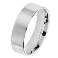 Silver 6mm Flat Court Wedding Ring G7726