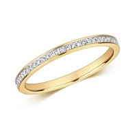 9ct Gold Diamond Set Eternity Ring RD692