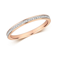 9ct Rose Gold Diamond Set Eternity Ring RD692R