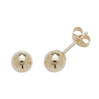 9ct Gold 5mm Ball Stud Earrings TL-ES203