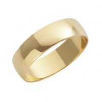9ct Yellow D Shape 5mm Wedding Band