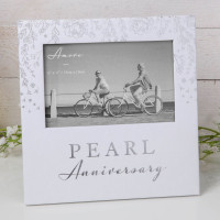 "6"" X 4"" - AMORE BY JULIANA® PHOTO FRAME - PEARL ANNIVERSARY AM11530"