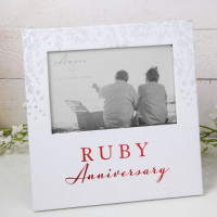 "6"" X 4"" - AMORE BY JULIANA® PHOTO FRAME - RUBY ANNIVERSARY AM11540"