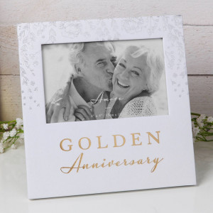 """6"""" X 4"""" - AMORE BY JULIANA® PHOTO FRAME - GOLDEN ANNIVERSARY AM11550"""
