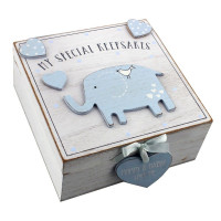 Petit Cheri 'My Special Keepsake' Box - Blue- Perfect Gift for New Parents