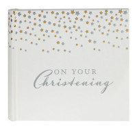 "BAMBINO LITTLE STARS PHOTO ALBUM 4"" X 6"" CHRISTENING PRODUCT CODE: CG517"