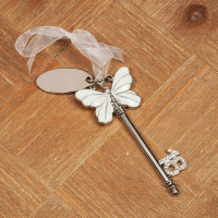 SOPHIA KEY - WHITE BUTTERFLY DESIGN & ENGRAVING PLATE - 18 PRODUCT CODE: SP229818